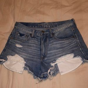 American Eagle distressed jean shorts!